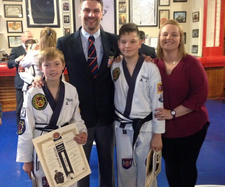 Our newest black belts. With honours no less!!